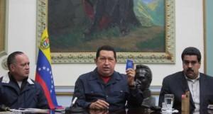 Hugo Chavez con Cabello y Maduro