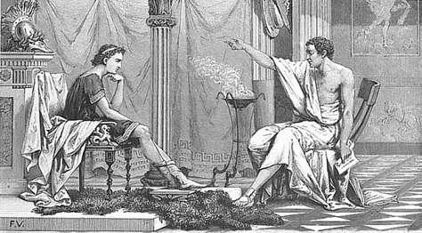 Ο Αριστοτέλης διδάσκει τον Αλέξανδρο