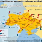 ucrania-map of russian gas supplies to europe via ucrania