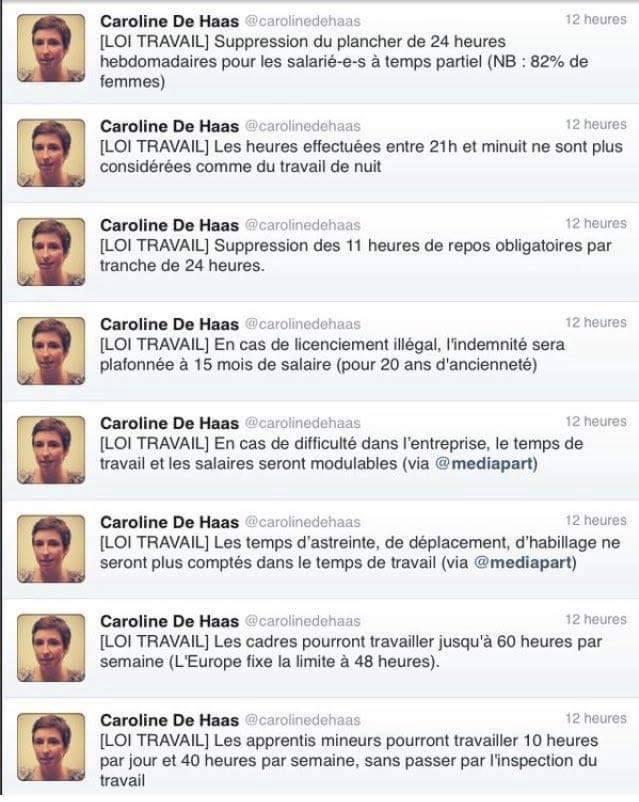 Caroline De Haas nous fait un résumé des nouvelles mesures imposées par Manuel Valls via la loi Travail.