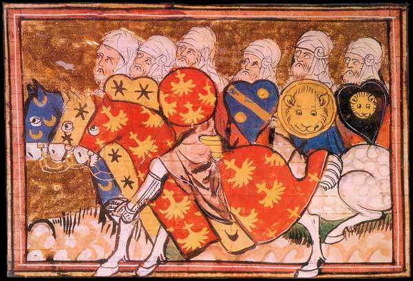 Saladin's troops, French manuscript, 1337